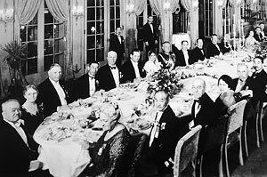 Banquet at the Ambassador Hotel for the 10th Olympic Games in Los Angeles.