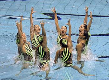 Images of アジア競技大会シンクロナイズドスイミング競技