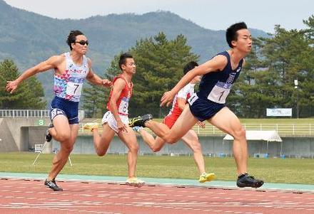 写真】男子100m、宮本10秒41 陸...