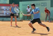 テニス混合、内藤・田島組が金 ユース五輪、体操北園3個目の金