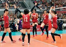 JOC - バレー日本、セルビアに競り勝つ 女子W杯、3―2で逆転