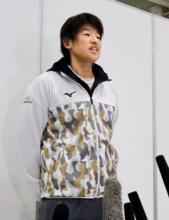 JOC - ソフト代表、上野「気合入る」 グアム合宿へ、五輪で金狙う